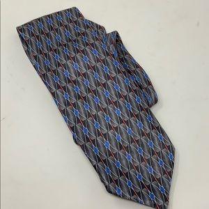 NEW Jos A Bank Gray Blue Tie